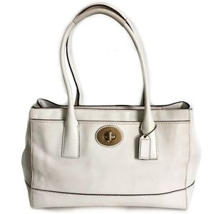 Coach Bag Madeline 11554 White Leather Satchel